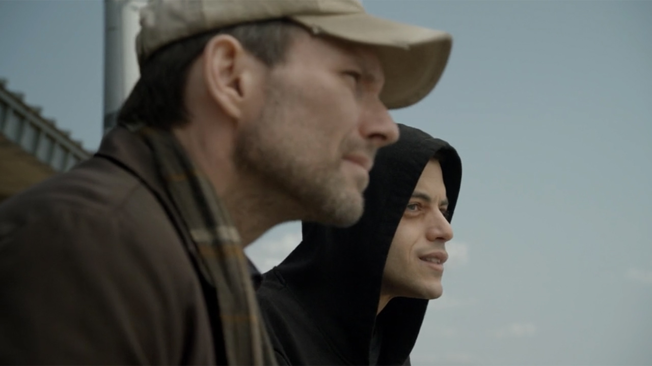 Rami Malek and Christian Slater star in this tense, technically impressive thriller.